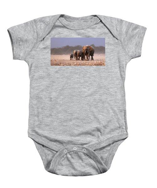 Elephant Herd Baby Onesie