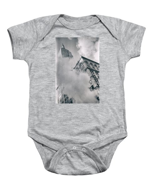 Empire State Building And Steam Baby Onesie