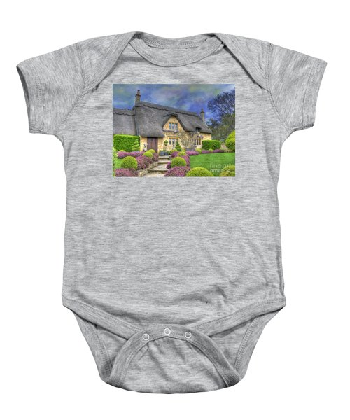English Country Cottage Baby Onesie