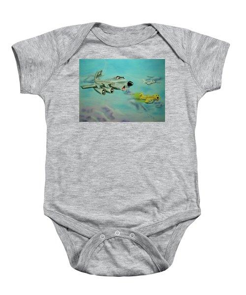 Extreme Airline Mergers Baby Onesie