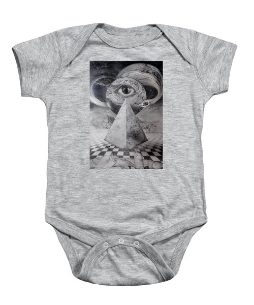 Eye Of The Dark Star - Journey Through The Wormhole Baby Onesie