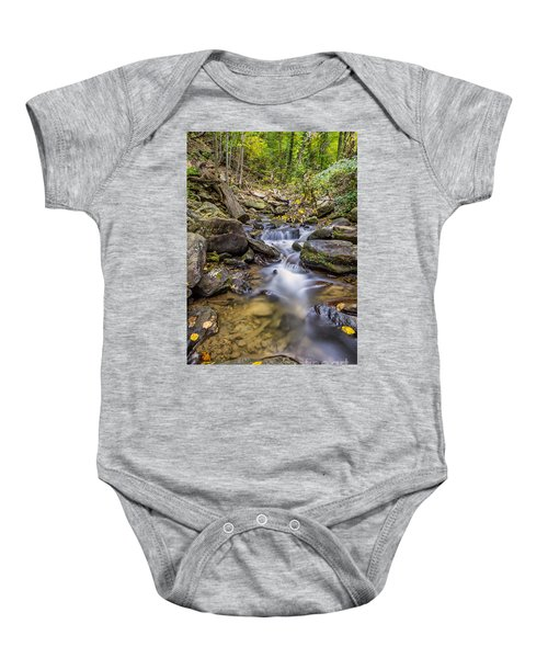 Fall Arrives At Amicalola Falls Baby Onesie