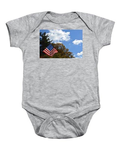 Fall Flag Baby Onesie