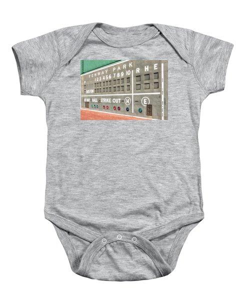 Fenway Park Scoreboard Baby Onesie
