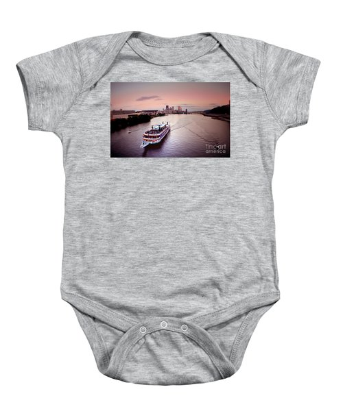 Ferry Boat At The Point In Pittsburgh Pa Baby Onesie