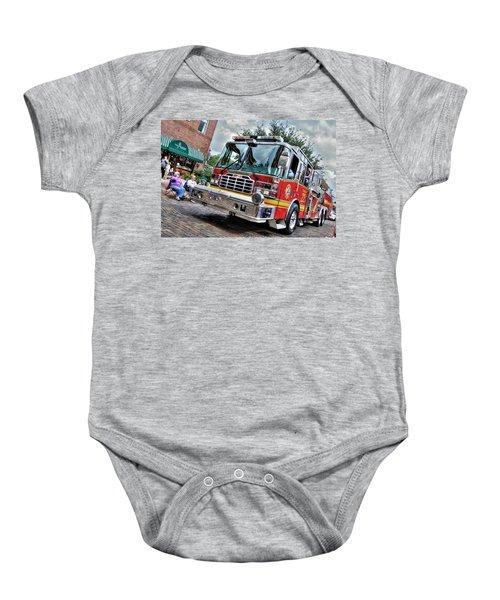 Firetruck Baby Onesie