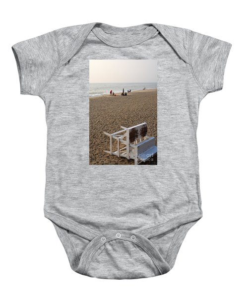 First On The Beach At Bethany Beach In Delaware Baby Onesie