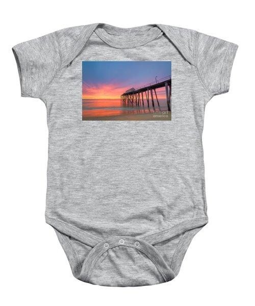 Fishing Pier Sunrise Baby Onesie