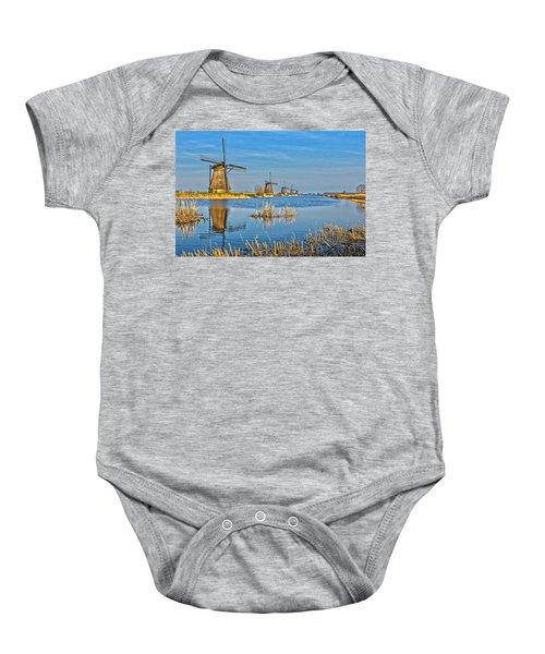 Five Windmills At Kinderdijk Baby Onesie