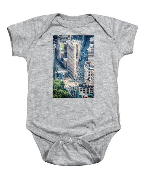 Flat Iron Building Baby Onesie