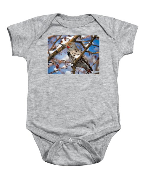 Flicker In Snow Baby Onesie