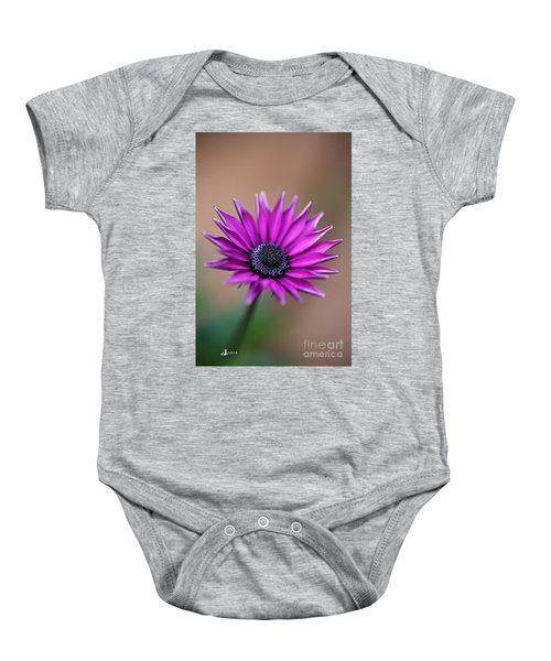 Flower-daisy-purple Baby Onesie