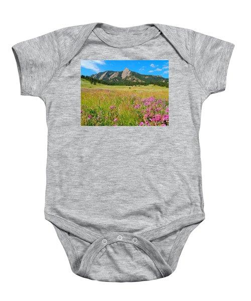 The Flatirons Colorado Baby Onesie