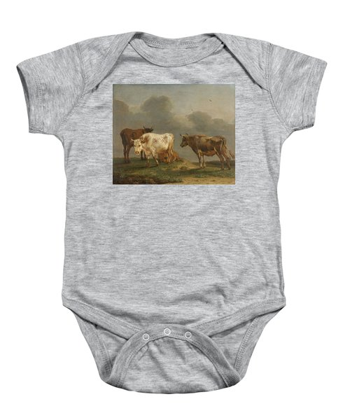 Four Cows In A Meadow Baby Onesie
