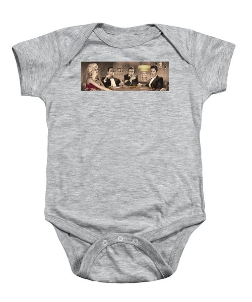 Four Of A Kind Baby Onesie by Chris Consani