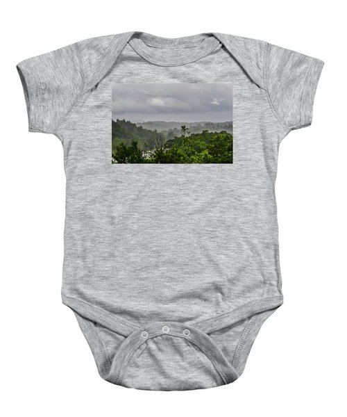 French Broad River Baby Onesie