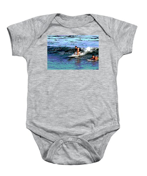 Friends Sharing A Wave Baby Onesie