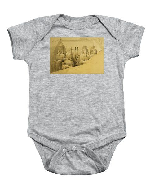 Front Elevation Of The Great Temple Of Aboo Simbel Baby Onesie