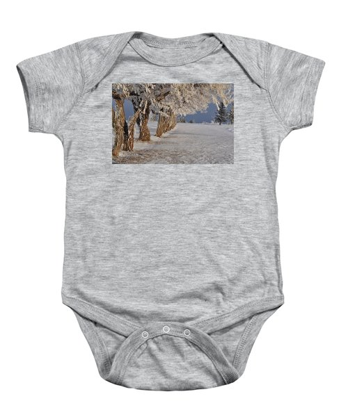 Frosted Trees Baby Onesie