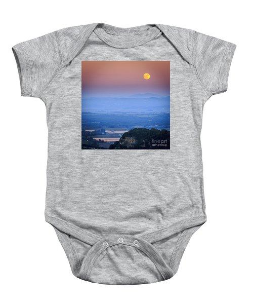 Full Moon Over Vejer Cadiz Spain Baby Onesie