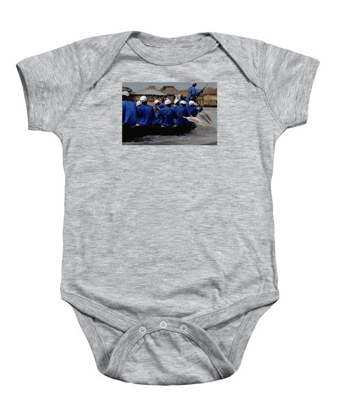 Baby Onesie featuring the photograph Ganvie - Lake Nokoue by Travel Pics