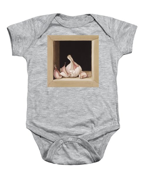 Garlic Baby Onesie by Jenny Barron