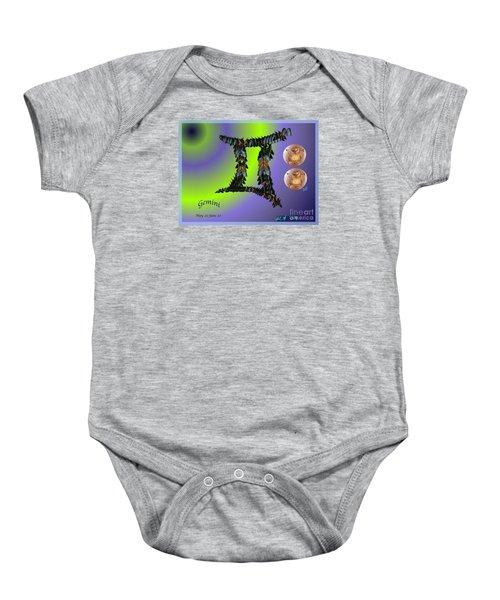 Gemini By Alice Terrill And William Baumol Baby Onesie