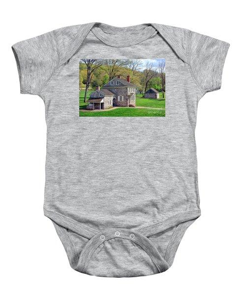 George Washington Headquarters At Valley Forge Baby Onesie