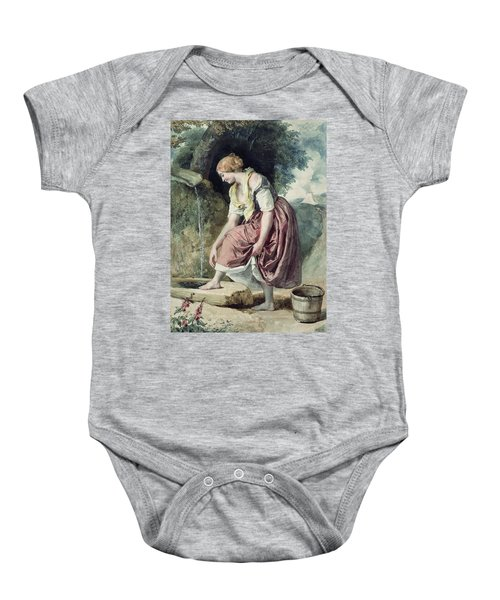 Girl At A Conduit Baby Onesie