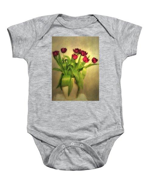Glowing Tulips Baby Onesie