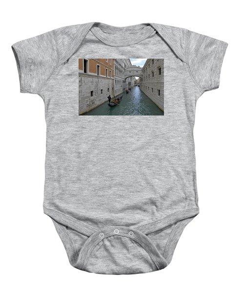 Gondolas Under Bridge Of Sighs Baby Onesie