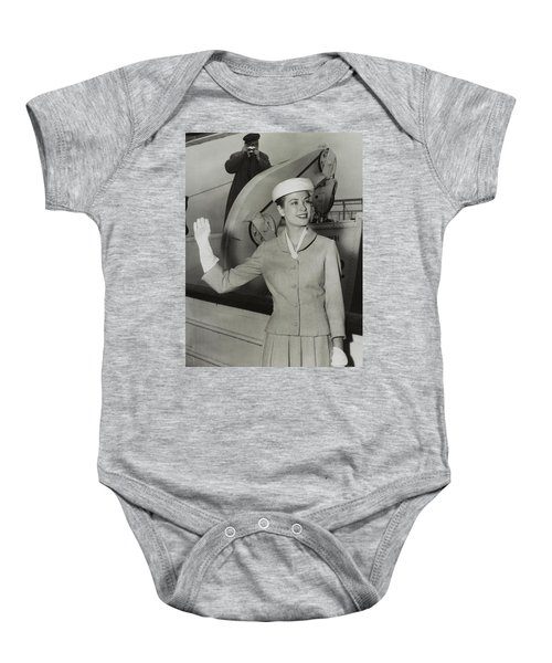 Grace Kelly In 1956 Baby Onesie by Mountain Dreams