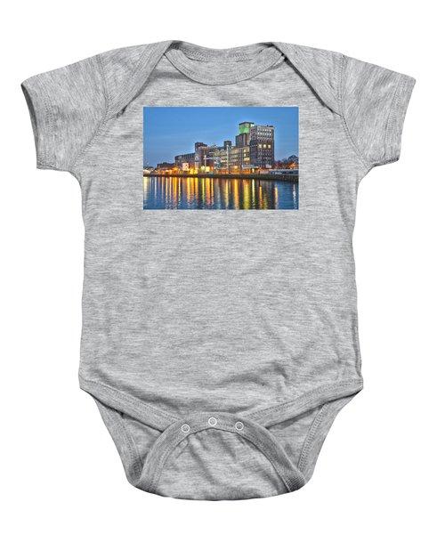 Grain Silo Rotterdam Baby Onesie