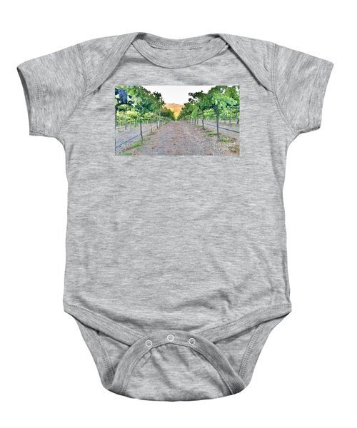 Grape Vines Baby Onesie
