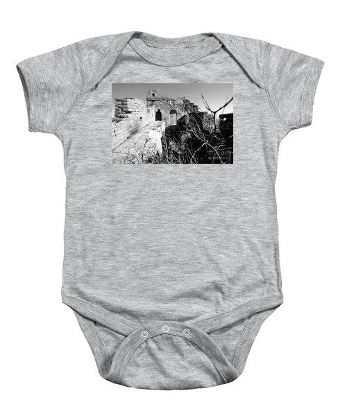 Great Wall Ruins Baby Onesie