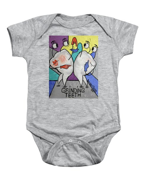 Grinding Teeth Baby Onesie