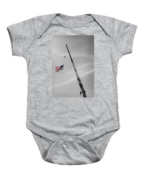 Half-mast Baby Onesie