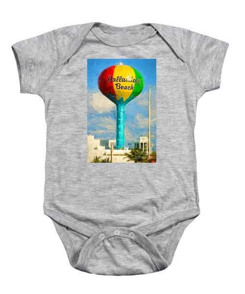Hallandale Beach Water Tower Baby Onesie