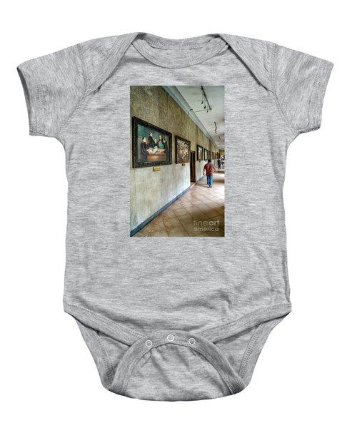Hallway Of Paintings Baby Onesie