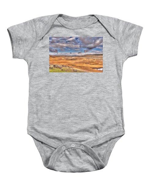 Hayden Valley Bison On Yellowstone River Baby Onesie