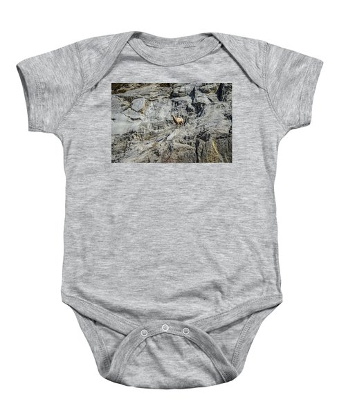 Big Horn Sheep Coming Down The Mountain  Baby Onesie