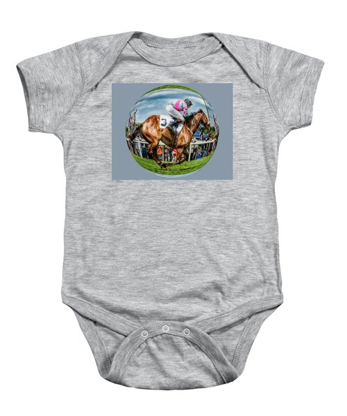 Here We Go Round In Circles Baby Onesie