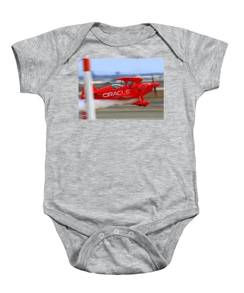 Hi Speed Low Pass By Sean Tucker At Salinas Ksns Air Show Baby Onesie