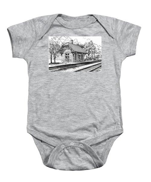 Highlands Train Station Baby Onesie