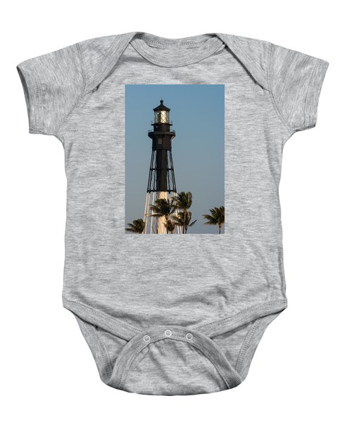 Hillsboro Inlet Lighthouse In The Evening Baby Onesie