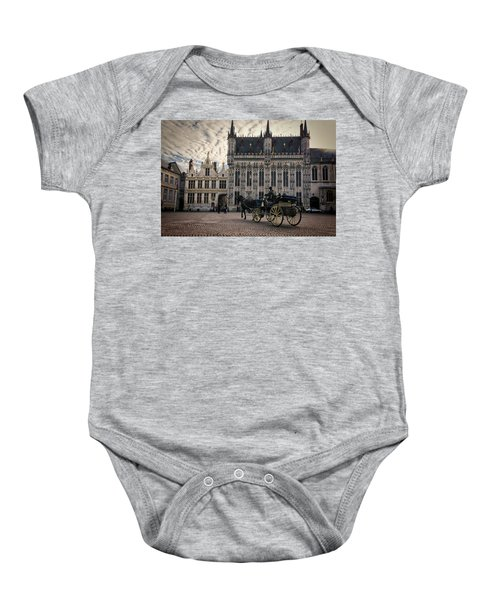 Horse And Carriage Baby Onesie
