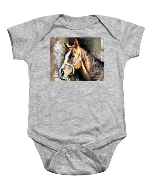 Horse Portrait - Drawing Baby Onesie