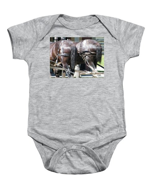 Horse Power Baby Onesie