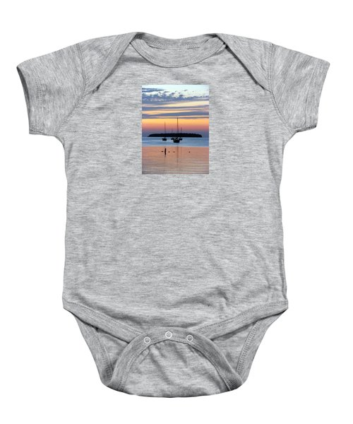 Horsehoe Island Sunset Baby Onesie