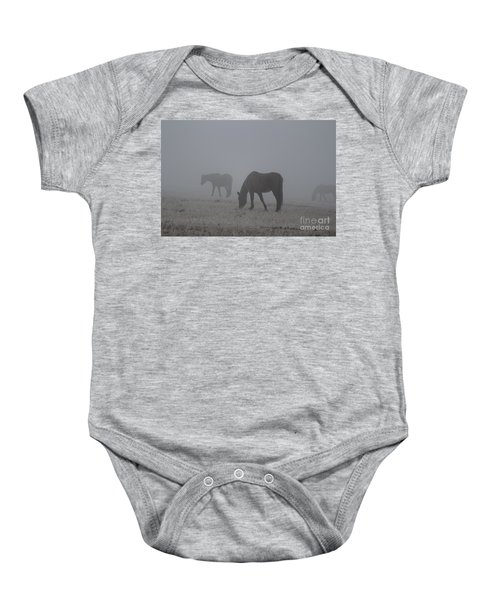 Horses In The Morning Fog Baby Onesie